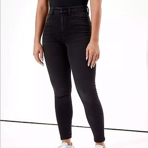 AMERICAN EAGLE   Black ultra high waisted jeans 10